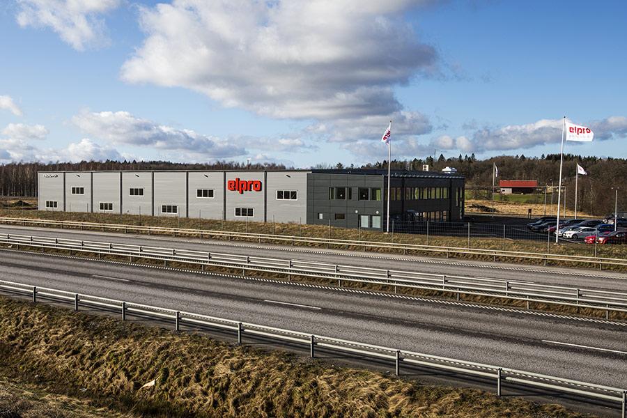Elpro i Alingsås som ligger vi E20 öster om Alingsås